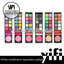 Best 78 color powder makeup palettehigh quality oem eyeshdow