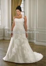 The Sexy one-shoulder brides wedding dress