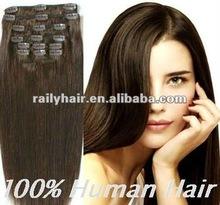 kinky curly black cheap 100% human hair clip in hair extension