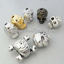 Popular Metal Skull Beads Jewelry Made of zinc alloy