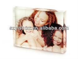 Clear acrylic photo frame acrylic block acrylic block photo frame