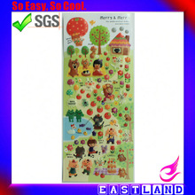Promotional Small Little Pig Japan Style 3d Shinning Crystal Clear Epoxy Stickers For Kids