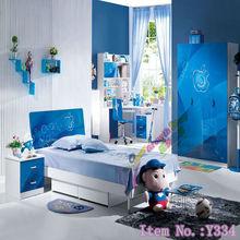 Blue bedroom furniture for kids Y334