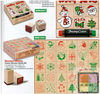Children wooden toy stamp set/Kids wooden rubber stamper set