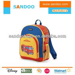 School Fire Truck Kids Backpack