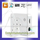 Wholesale Mini LED Portable White MP3 Music Cinema Digital USB Projector Pocket Projector Pico Home Theater Handheld