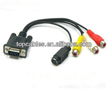 db 15/ vga to 3 rca cable