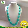 No- tóxico bpa libre collar de goma/cuentas de silicio/jalea joyas de la dentición