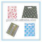 Guangzhou printed custom plastic bags with handle
