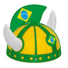 Mini Plastic Football Helmet With Brazil Flag Design Flag Helmet