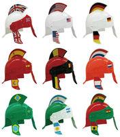 Mini Plastic Football Fan Helmet With Brazil Flag Design Flag Helmet