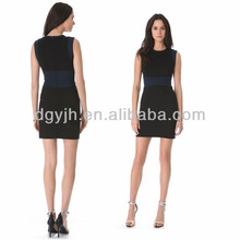 wholesale ladies mini skirt, round collar sleeveless short dress, ladies black formal dress hot new evening dress 2012