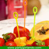 cheapest disposable decoration plastic fruit forks export to Russia