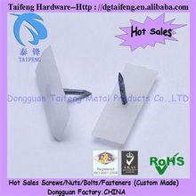 White insert screw Plastic Nuts(dongguan manufacturer)