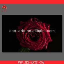 digital inkjet non woven fabric rose oil painting