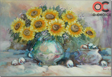 Handmade daisies flower oil painting on canvas flowers