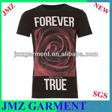 The rose print t shirt,custom t shirt printing t shirt