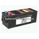 auto battery dry charged N135 12V135Ah made in korea batteries
