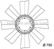 superior fan blade 0032050006 for MERCEDES-BENZ/SCANIA