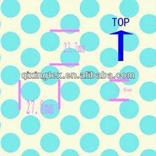 high quality blue white polka dot fabric