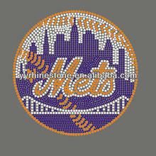NY Mets baseball rhinestone transfer hotfix motif