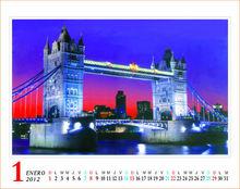 2014 decorative wall calendar print
