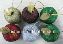 2013 fashion plastic christmas decorations apple