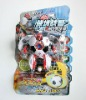 New design stuffed football toy transform toy robot with sound and light RB81402032-1