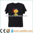 New ! kids favor lighting el t-shirt panel