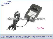 Universal 5.5v ac dc power adapter with EU/AU/UK/US manufactory