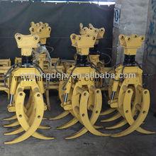 Rotating excavator grapple parts welding Komatsu Volvo Doosan