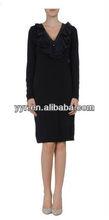 Latest Arabic kaftan, Dusk Abaya, V-neck Islamic dress