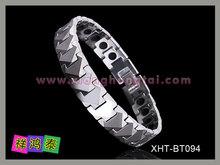 Top Designed 4 in 1 Bio Magnetic Titanium Bracelet, IP Gun Titanium Bracelet