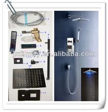 led bath room faucet toilet shower overhead shower set