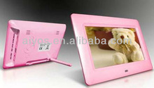 photo picture frame,7 inch frame support music,video loop play
