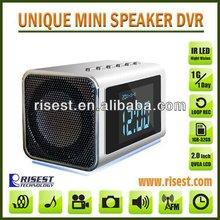 Secretly Filmed Mini DVR Recorder with Hidden Camera &Mini Clock&Speaker