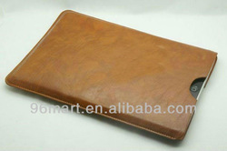 Leather Case Cover Sleeve Pouch for Apple iPad Mini Wifi 7.9inch Tablet - Brown