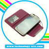 Mobile phone wallet bag for Samsung galaxy s4 leather pouch
