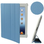4-fold Double-sided Ball Texture Smart Cover with Holder for iPad 4