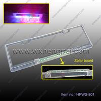 LED solar License plate frame/ no waire LED License plate frame/ Sensor LED Car License plate frame