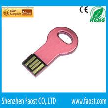 pink metal mini key disk, pen memory drive, print logo