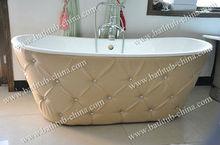 cast iron freestanding soft bathtubs with steel skirt