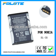 Factory price 100% new BL-5B Battery for nokia 5070