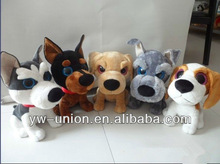 2013 cute plush dog with big eyes