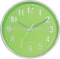 los niños verde reloj dial plateado con números de reloj de pared redondo