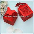 Hueco de la mariposa de flores de la boda cajas pasteles/tartas para petits fours