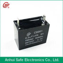 self healing cbb61 capacitor run motor fan 4.3UF