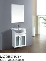White Sink Vanity PVC Bathroom Furniture