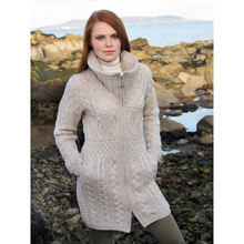 Fashionable warm merino wool cardigan