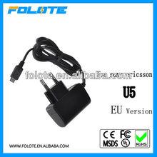 EU plug Mobile phone Battery Charger For Sony Ericsson X8 X1 X2 U5 U8 X8 X10 mini pro micro USB